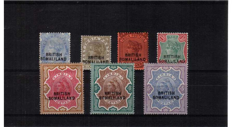 fine mounted mint set of 7
