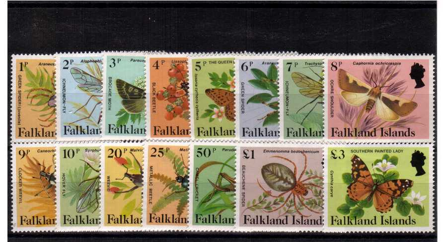Insects Spiders and Butterflies - Superb unmounted mint set of fifteen.