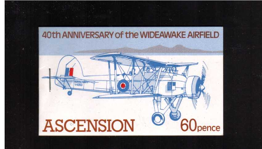 60p Wideawake Airfield - Blue-Complete booklet