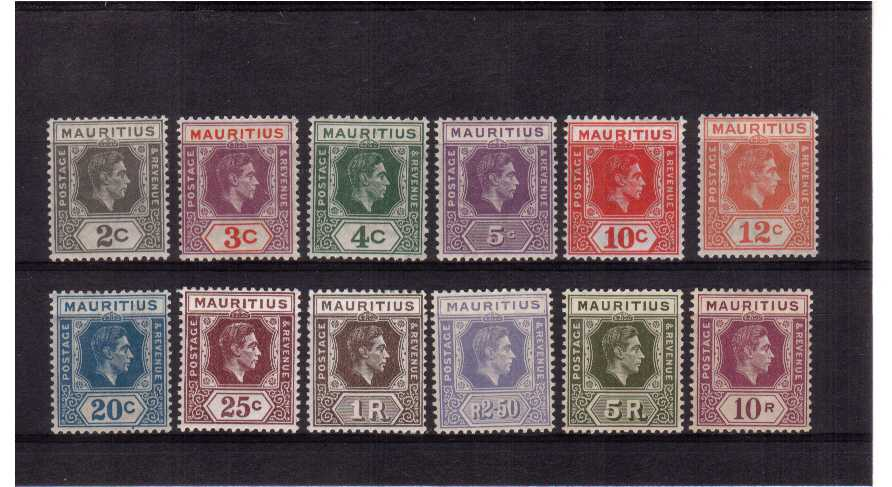 fine mounted mint set of 12 that includes the chalky paper printings