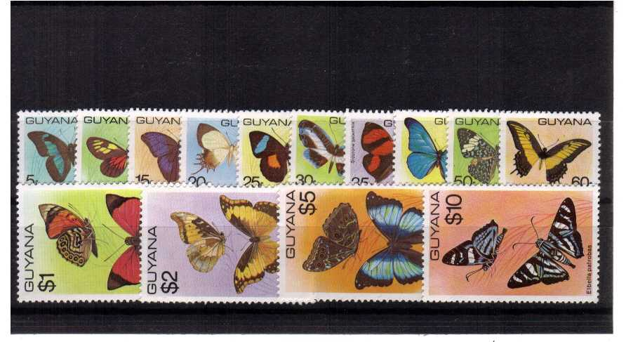 The Butterflies set of fourteen superb unmounted mint.<br/><b>QBQ</b>