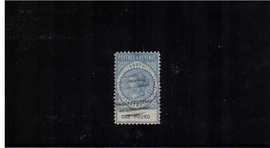 SOUTH AUSTRALIA - �Blue - Perforation 10. A superb fine used stamp with excellent perforations, centering and colour. A gem!<br/><br/>