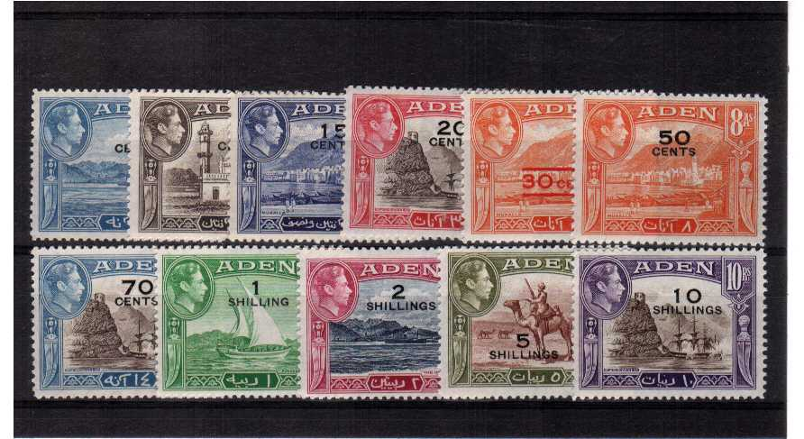 Superb unmounted mint set of eleven.<br/><b>QMX</b>