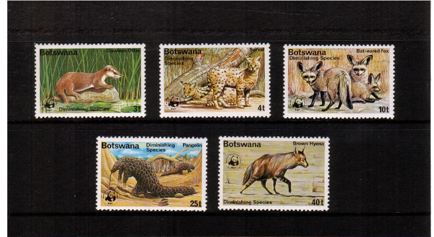 WWF - World Wildlife Fund set of five superb unmounted mint.<br><b>QBQ</b>