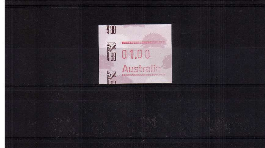 $1 FRAMA commemorative single for AEROPEX88  superb unmounted mint<br/>Issue Date: 10 APRIL 1988