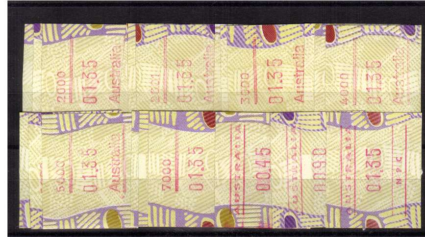 Tiwi FRAMA  set of 21 - all codes superb unmounted mint<br/>Issue Date: 25 OCT 1999