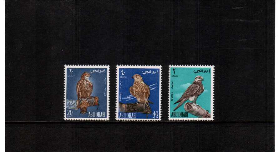 The Falcons ''Bird'' set of three very, very lightly mounted mint.