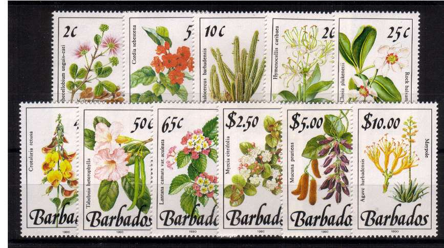 The Wild Plants set of eleven with 1990 imprint superb unmounted mint.