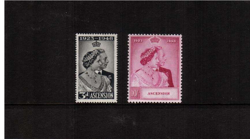The 1948 Royal Silver Wedding set of two mounted mint.