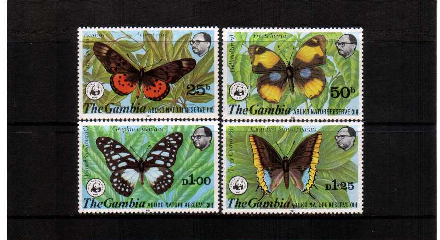 WWF - Butterflies set of four  superb unmounted mint