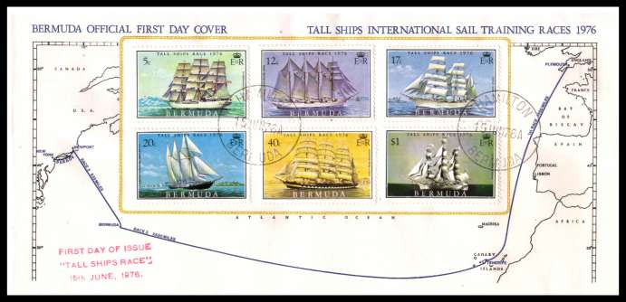Tall Ships International Sail Training Races<br/>superb unaddressed illustrated First Day Cover offered at the value of the used stamps alone.