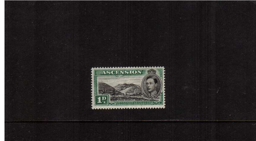 The 1d Black and Green superb unmounted mint.