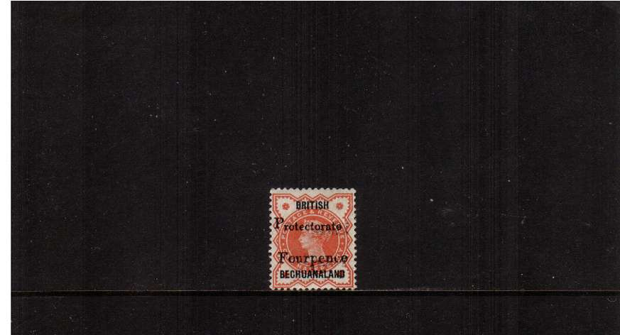 4d on 絛 Vermilion lightly mounted mint. 
