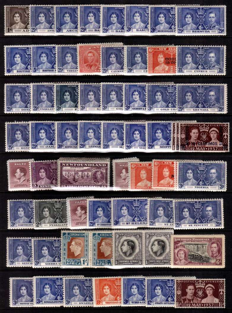 The Coronation complete omnibus set of 202 stamps superb unmounted mint.