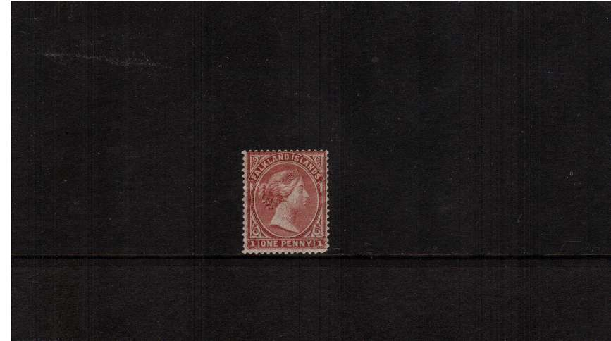 1d Claret - with No Watermark. A fresh looking mounted mint<br/>stamp with a possible ''rounded corner''!! SG Cat �0