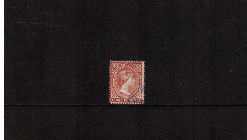 1d Pale Red with WATERMARK REVERSED. A very fine used example. SG Cat �5