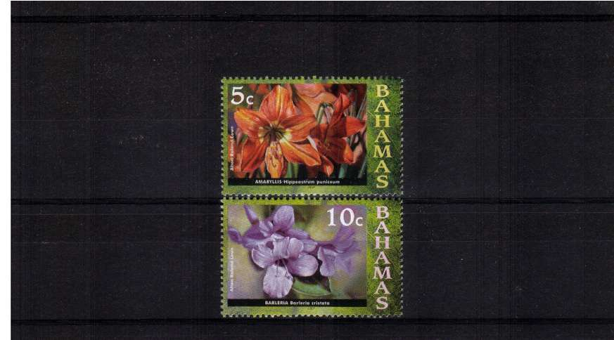 Flowers set of two with 2007 imprint dates set of two.