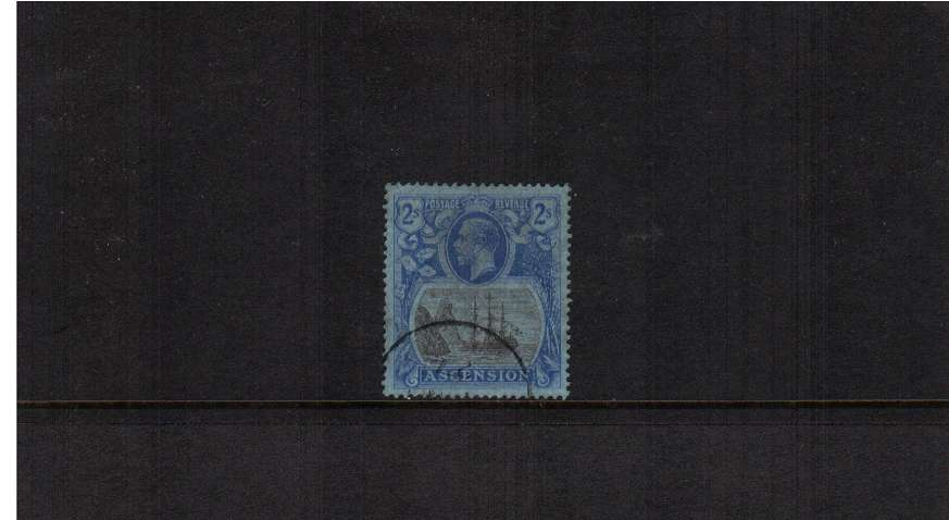 2/- Grey-Black and Blue on Blue definitive single superb fine used.