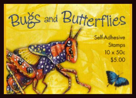 $5.00 Bugs and Butterflies complete unfolded flat booklet