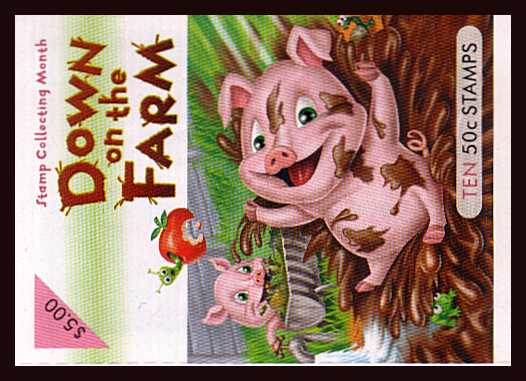$5.00 Down on the Farm complete unfolded flat booklet