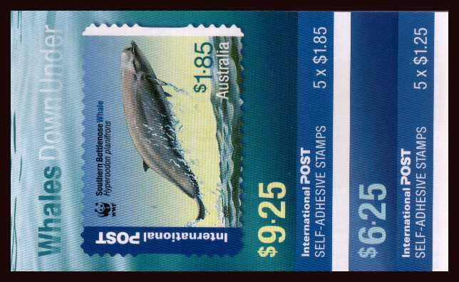 $6.25 and $9.25 Endangered Species - Whales Down Under pair of complete unfolded flat booklets