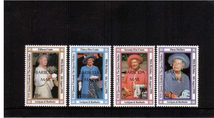90th Birthday of The Queen Mother set of four superb unmounted mint.<br><b>QBQ</b>