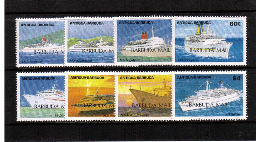 Caribbean Cruise Ships set of eight superb unmounted mint.
