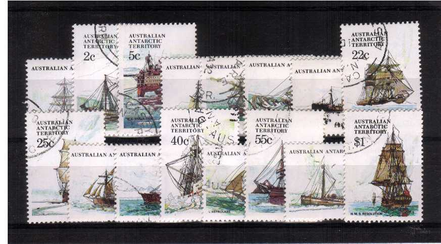 Ships - Set of sixteen superb fine used.