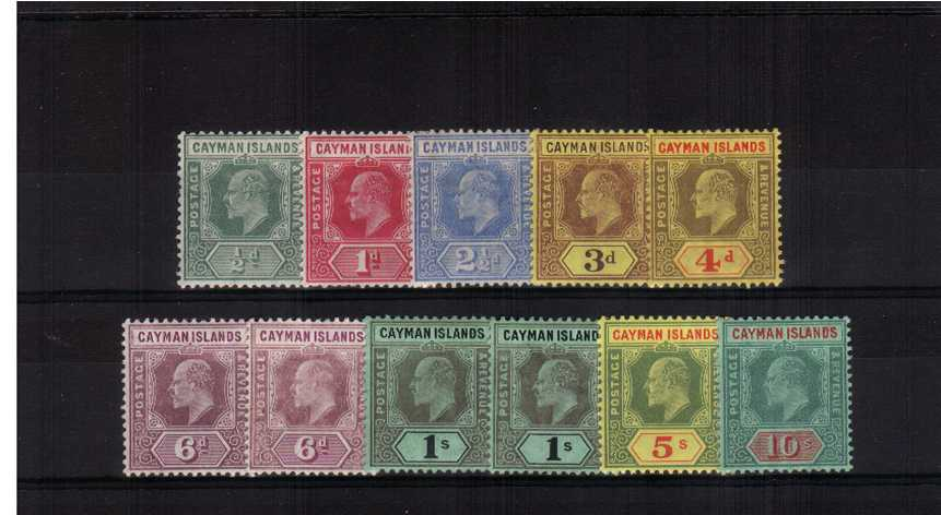 A fine lightly mounted mint set of ten with a bonus of the listed 6d shade.<br/> Sereral are unmounted!