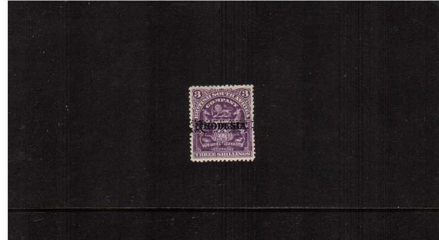 3/- Deep Violet - A lightly mounted mint single perfined ''SPECIMEN''