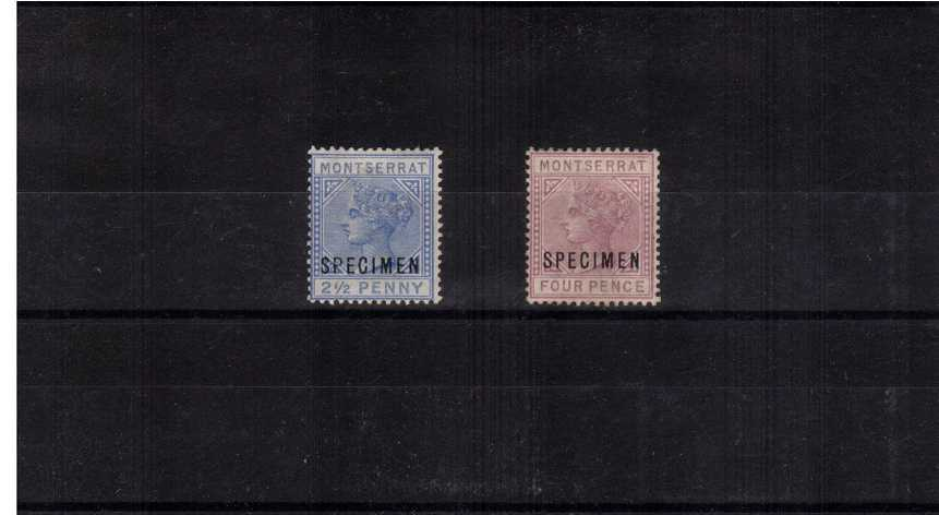 A good mounted mint set of two overprint ''SPECIMEN''.<br/>ex Marcus Samuel collection. SG Catalogue �5.00
