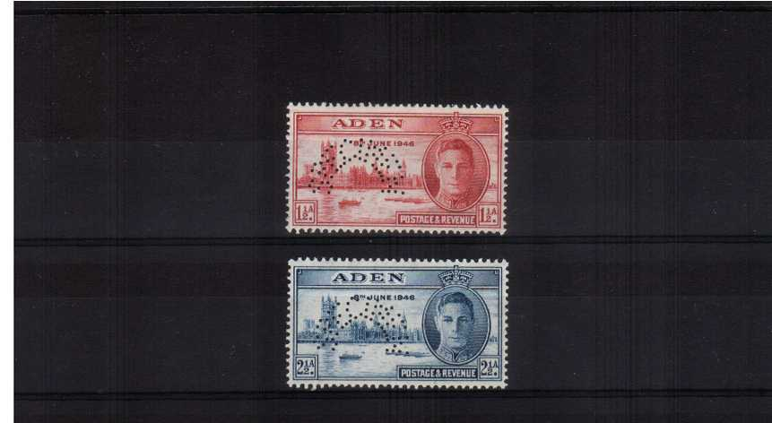 The Victory set of two superb unmounted mint perfined ''SPECIMEN''.