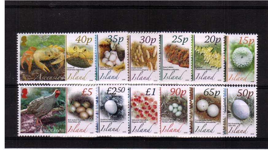 Fauna and their Eggs<br/>Set of twelve superb unmounted mint.