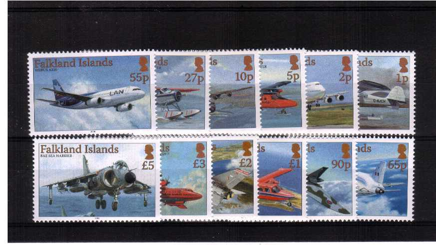 The Aircraft definitive set of twelve superb unmounted mint