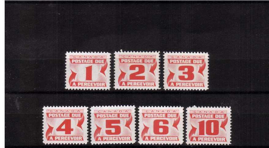 The Postage Due set of seven superb unmounted mint.