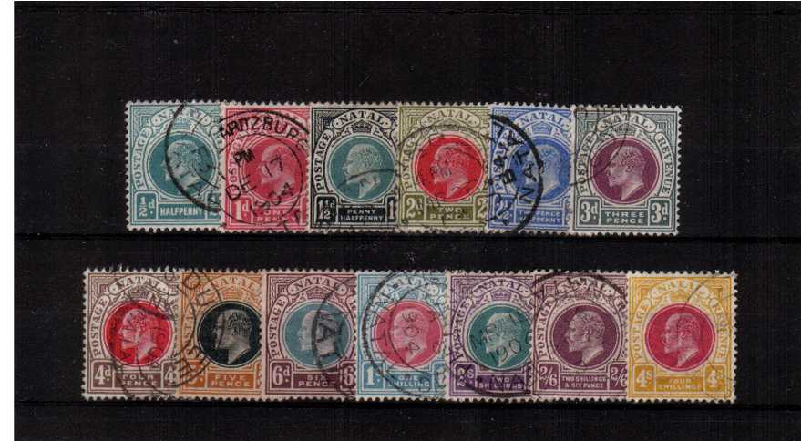 A truly superb fine used set of thirteen each stamp cancelled by a double ring CDS. A gem set.