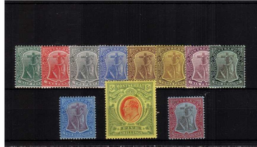 A fine and fresh lightly mounted mint set of ten with the bonus of the 3d with ''white back''.