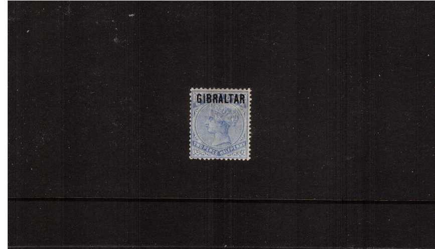 The 2½d Ultramarine of ''BERMUDA'' overprinted ''GIBRALTAR''.<br/>A lovely lightly mounted mint single.