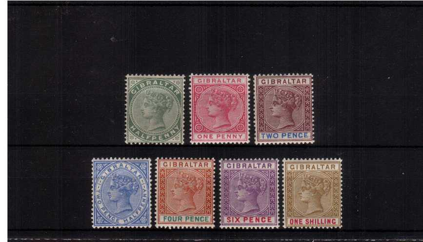 The re-issue set in Sterling Currency all superb unmounted mint except for the ½d value that it lightly mounted mint.