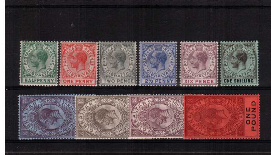 The watermark Multiple Crown ''CA'' set of ten lightly mounted mint. Fine and fresh.