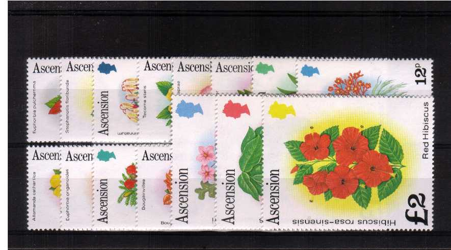Flowers - A very, very lightly mounted mint set of fifteen each stamp with a mere trace of a hinge.