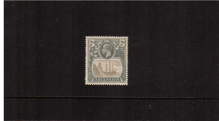 2d Grey-Black and Grey.<br/>A very fine, very lightly mounted mint single showing the ''BROKEN MAST'' variety. Lovely!