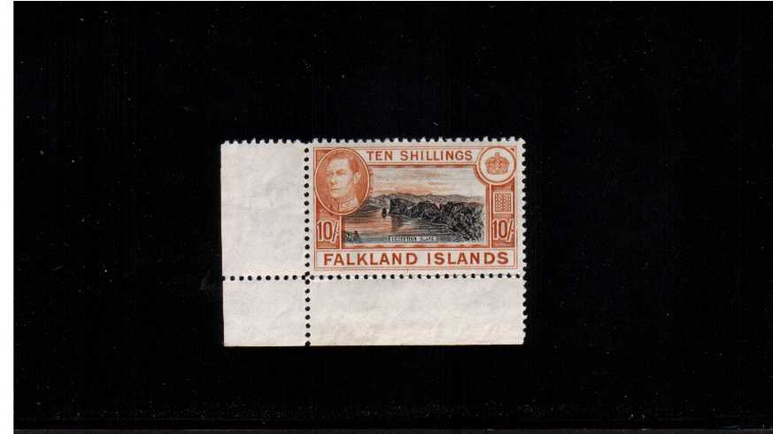 Black and Red-Orange on greyish paper.