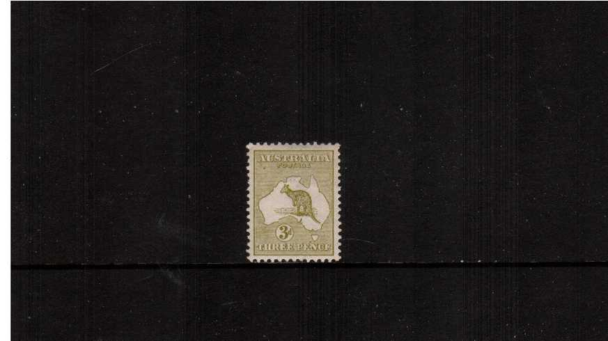 3d Yellow-Olive - Die II<br/>A lovely superb unmounted mint single with superb centering. A gem!
