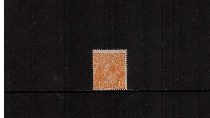 4d Orange <br/>A good very, very lightly mounted mint single