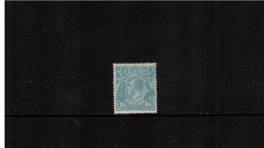1/4d Dull Greenish Blue<br/>A lovely lightly mounted mint single.