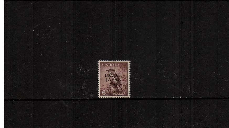 6d Bird Purple-Brown<br/>A superb unmounted mint definitive single.