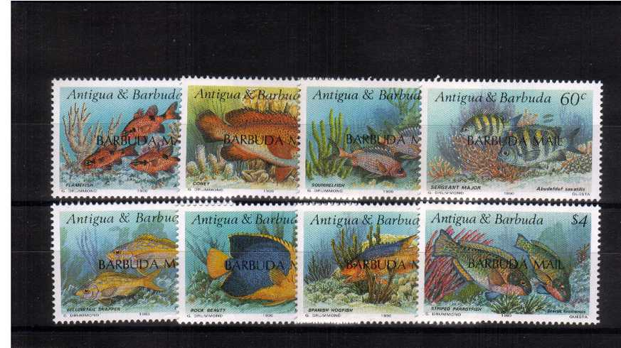 The Reef Fishes set of eight superb unmounted mint.
