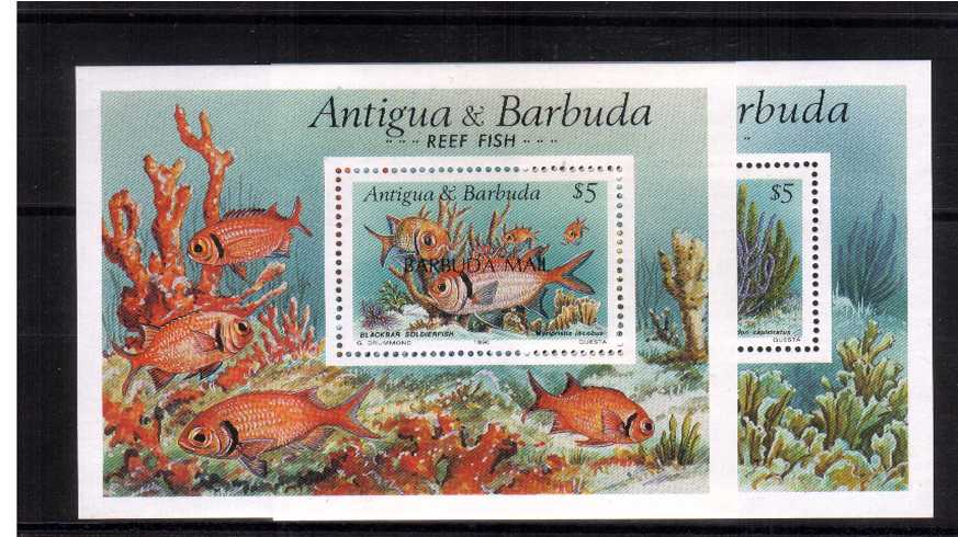The Reef Fishes set of two minisheets superb unmounted mint.