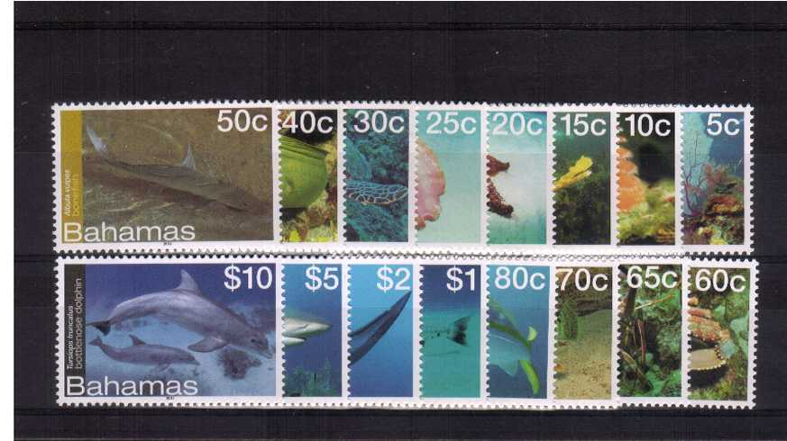 Marine Life definitive set of sixteen superb unmounted mint.<br><b>XCX</b>